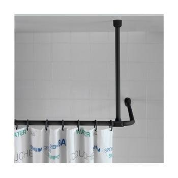 Suport tavan pentru perdea duș Wenko, 57 cm, negru poza bonami.ro