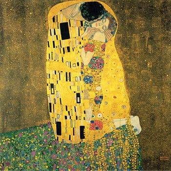 Reproducere tablou Gustav Klimt - The Kiss, 60 x 60 cm bonami.ro