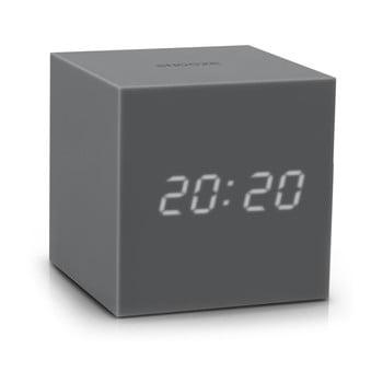 Ceas deșteptător cu LED Gingko Gravity Cube, gri bonami.ro