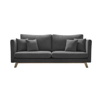 Canapea extensibilă Bobochic Paris Paris Triplo, gri închis imagine