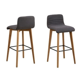 Set 2 scaune de bar Actona Arosa, gri imagine