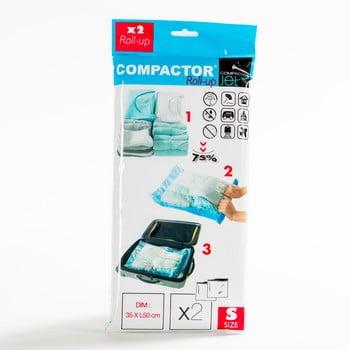 Set 2 saci pentru stocat îmbrăcăminte cu vacuum Compactor Blue S bonami.ro