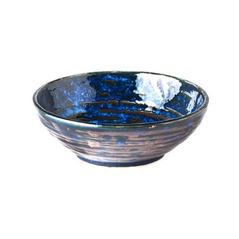 Bol mic din ceramică MIJ Copper Swirl, ø13 cm, albastru bonami.ro