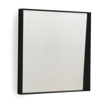 Oglinda de perete Geese Thin, 40 x 40 cm, negru