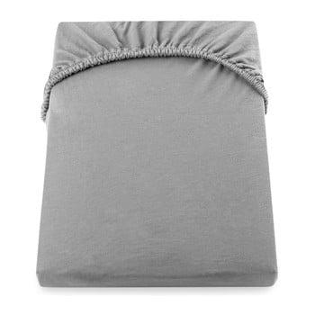 Cearșaf de pat cu elastic DecoKing Nephrite, 220–240 cm, gri bonami.ro
