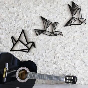 Set 3 decorațiuni de perete Fly Away, negru poza bonami.ro