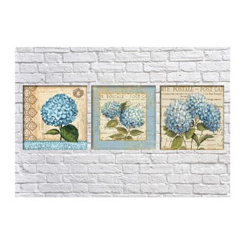 Set 3 tablouri Tablo Center Hydrangea Postale bonami.ro