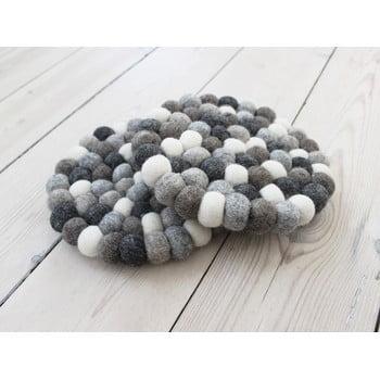 Suport pahar cu bile din lână Wooldot Ball Coaster, ⌀ 20 cm, alb - gri bonami.ro
