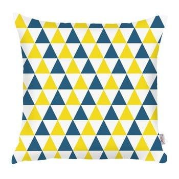 Față de pernă Mike&Co.NEWYORK Triangles, 43 x 43 cm, albastru - galben poza bonami.ro