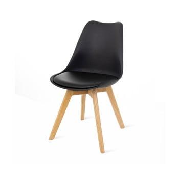 Set 2 scaune cu picioare din lemn de fag loomi.design Retro, negru bonami.ro