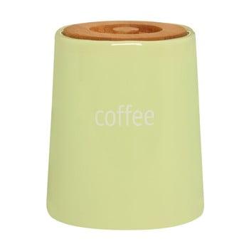 Recipient pentru cafea, capac din lemn Premier Housewares Fletcher, 800 ml, verde poza bonami.ro