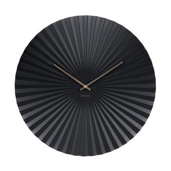 Ceas Karlsson Sensu, Ø 50 cm, negru bonami.ro
