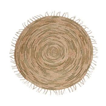 Covor lucrat manual din iută Nattiot Pampa, ⌀ 140cm imagine