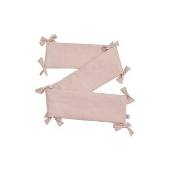 Protecție din in pentru pătuț BELLAMY Dusty Pink, 23,5 x 198 cm, roz poza bonami.ro