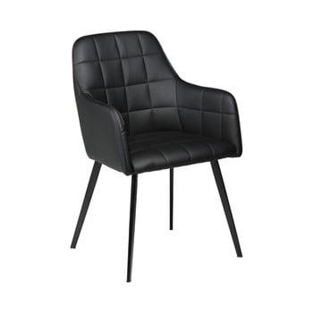 Scaun din piele ecologică DAN-FORM Denmark Embrace, negru