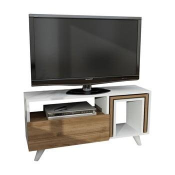 Comodă TV cu aspect de lemn de nuc Furny Home Novellis bonami.ro