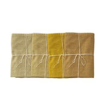 Set 4 șervețele textile din amestec de in Linen Couture Beige, 43 x 43 cm bonami.ro