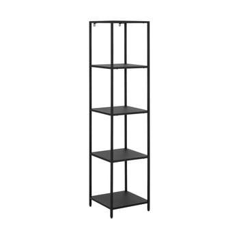 Bibliotecă metalică cu 4 rafturi Actona Newcastle, lățime 35 cm, negru bonami.ro