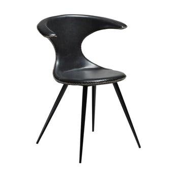 Scaun din piele ecologică DAN-FORM Denmark Flair, negru bonami.ro