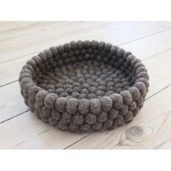 Coș depozitare cu bile din lână Wooldot Ball Basket, ⌀ 28 cm, maro nucă poza bonami.ro