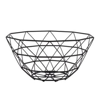 Fructieră PT LIVING Diamond, ⌀ 30 cm, negru bonami.ro