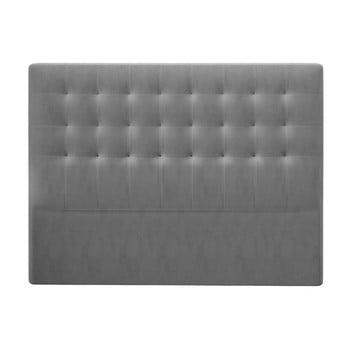 Tăblie pentru pat cu tapițerie de catifea Windsor & Co Sofas Athena, 200x120cm, gri poza bonami.ro