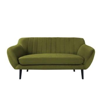 Canapea cu tapițerie din catifea Mazzini Sofas Toscane, 158 cm, verde imagine