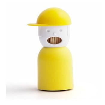 Suport pentru scobitori Qualy&CO Picky Boy, galben bonami.ro