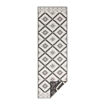 Covor adecvat pentru exterior Bougari Twin Supreme Duro, 80 x 350 cm, negru-crem bonami.ro