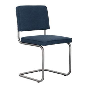 Set 2 scaune Zuiver Ridge Brushed Vintage, albastru închis poza bonami.ro