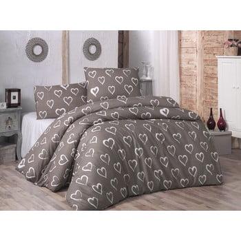 Lenjerie de pat cu cearșaf și fețe de pernă Hearts, 200 x 220 cm bonami.ro