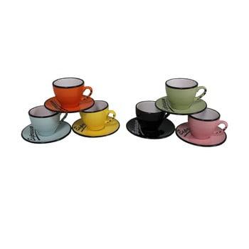 Set 6 cești cu farfurie Antic Line Espresso bonami.ro