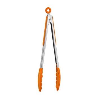Clește din oțel inoxidabil cu mâner din silicon Premier Housewares Zing, portocaliu bonami.ro