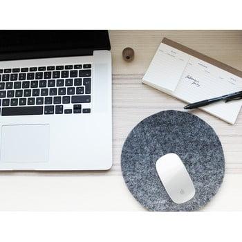 Suport din lână pentru pahar/gadget-uri Wooldot Felt Coaster, ⌀ 20 cm, antracit bonami.ro