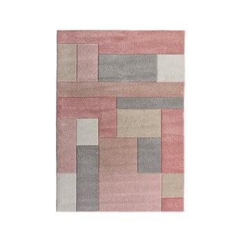 Covor Flair Rugs Cosmos, 160 x 230 cm, roz - gri imagine