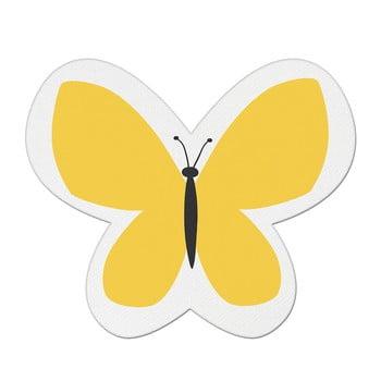 Pernă din amestec de bumbac pentru copii Mike&Co.NEWYORK Pillow Toy Butterfly, 26 x 30 cm, galben bonami.ro