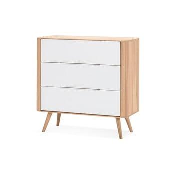 Comodă cu sertare din lemn de stejar Gazzda Ena One, 90 x 90 cm