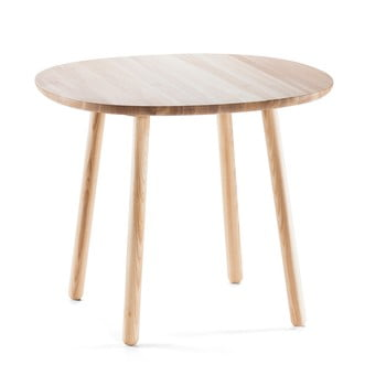 Masă dining din lemn masiv EMKO Naïve, ø 90 cm, natural imagine
