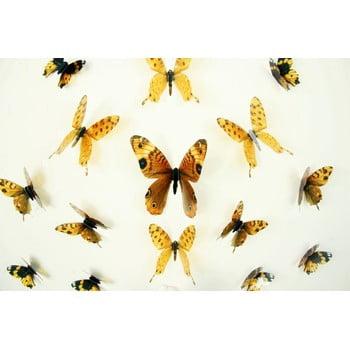 Set 18 autocolante cu efect 3D Ambiance Butterflies Yellow bonami.ro