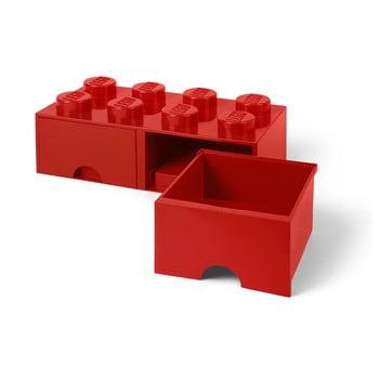 Cutie depozitare cu 2 compartimente LEGO®, roșu bonami.ro