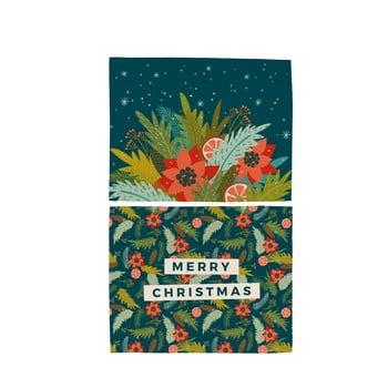 Set 2 șervețele din bumbac cu motive de Crăciun Butter Kings Happy Merry, 45 x 35 cm bonami.ro