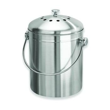 Recipient pentru compost iDesign, 5l, argintiu bonami.ro