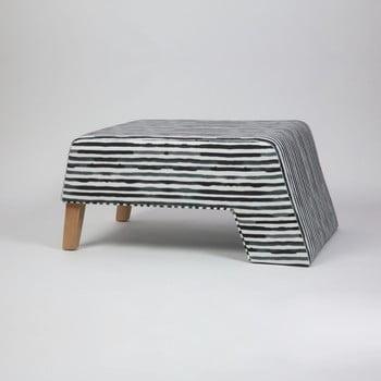 Taburet cu picioare din lemn Kate Railey, negru-alb imagine