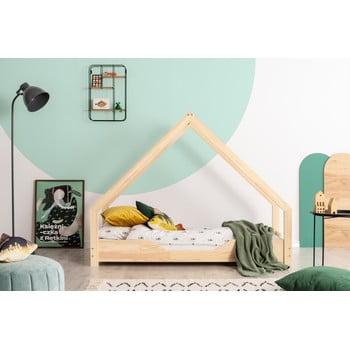 Pat tip căsuță din lemn de pin pentru copii Adeko Loca Bon,80x160cm