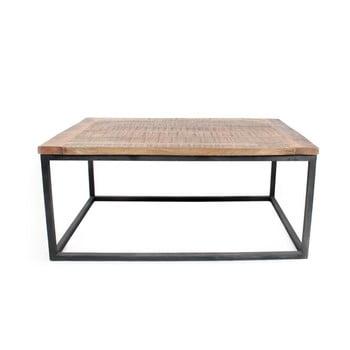 Măsuță auxiliară cu blat din lemn de mango LABEL51 Box XL, negru imagine