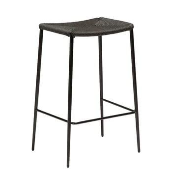 Scaun bar cu picioare din oțel DAN-FORM Stiletto, negru, înălțime 68 cm bonami.ro