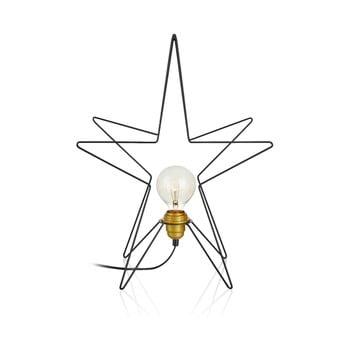Decorațiune luminoasă Markslöjd Asterix, înălțime 49 cm, negru bonami.ro