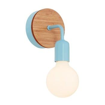 Aplică cu detalii din lemn Homemania Valetta, albastru deschis bonami.ro