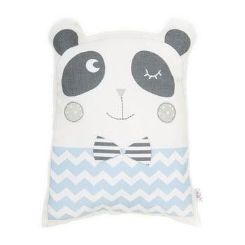 Pernă din amestec de bumbac pentru copii Mike&Co.NEWYORK Pillow Toy Panda, 25 x 36 cm, albastru bonami.ro