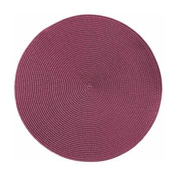 Suport rotund pentru farfurie Zic Zac Round Chambray, ø38cm, roz poza bonami.ro